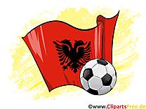 Albanie Drapeau Championnat d'Europe d'Monde pour télécharger