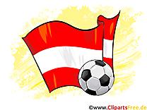 Autriche Drapeau at Ballon  télécharger Soccer Images