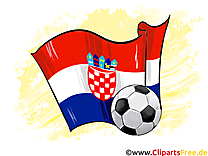 Croatie Drapeau Football Clipart