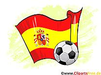 Espagne Drapeau Gratuit Football Clip arts pour télécharger