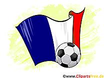 Balles et drapeaux football