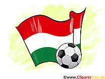 Hongrie Drapeau et Ballon Football gratuit pour télécharger