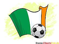 Irelande Drapeau Image Football télécharger gratuitement