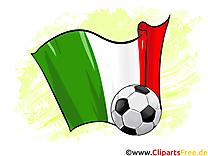 Italie Drapeau Clip art Images Football pour télécharger