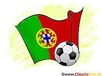 Portugal Drapeau Illustration Soccer gratuitement télécharger