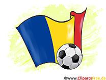 Roumanie Drapeau Cliparts Soccer Images pour télécharger