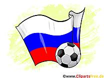 Russie Drapeau Clipart Football pour télécharger