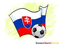 Slovaquie Drapeau Football gratuit Clipart