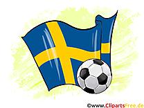 Suède Drapeau Football Soccer gratuit Image