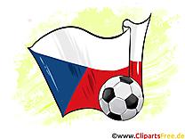 Tchèque Drapeau télécharger Soccer Images gratuitement