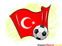 Turquie Drapeau Soccer Images et Illustrations