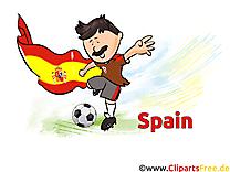 Clipart Football Terrain Espagne pour télécharger