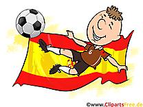 Drapeau Espagne Illustrations Football télécharger