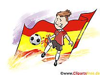 Drapeau Soccer gratuit Cliparts Espagne Ballon