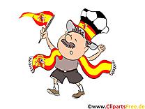 Football Clipart Joueur Espagne sur le Terrain