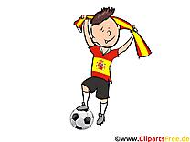 Gratuit Cliparts Joueurs Soccer télécharger Espagne