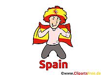 Gratuit Soccer Clip Espagne arts pour télécharger