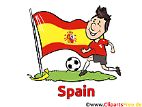 Gratuit Soccer Espagne Clip arts pour télécharger