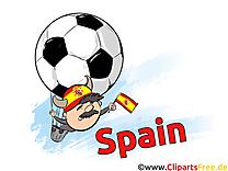 Illustration Soccer gratuitement télécharger Espagne