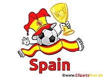 Joueurs Cliparts Soccer Espagne pour télécharger