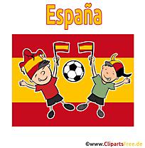 Soccer gratuit Cliparts Espagne Joueurs avec le Ballon