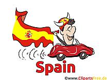 Voiture Soccer Images Espagne et Illustrations