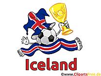 Cliparts Soccer Images pour télécharger Islande