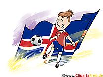 Drapeau Gratuit Soccer Islande télécharger