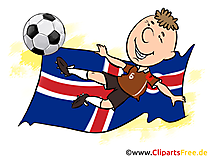 Drapeau Images Football Islande gratuitement