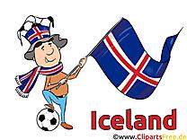 Illustration Islande Soccer gratuitement télécharger