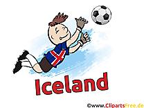 Islande Clip art Images Football pour télécharger