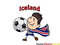 Soccer Islande gratuit Cliparts Joueurs avec le Ballon