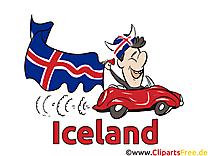 Voiture Championnat d'Europe Islande pour télécharger