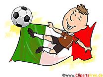 Drapeau Clipart Football Italie Terrain pour télécharger