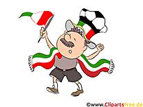 Football Clipart Joueur Italie sur le Terrain