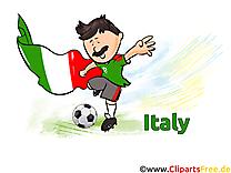 Illustration Italie Soccer gratuitement télécharger