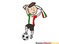 Joueurs Cliparts Soccer pour Italie télécharger