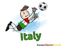Soccer gratuit Cliparts Joueurs avec le Ballon Italie