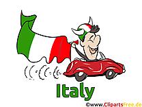 Voiture Gratuit Soccer Italie Clip arts pour télécharger