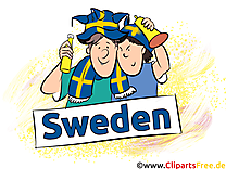 Fans Illustrations Football Suède Joueurs télécharger