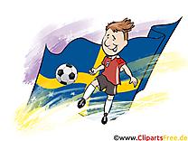 Images Football gratuit Suède pour télécharger