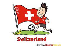 Cliparts Soccer Images pour télécharger Suisse