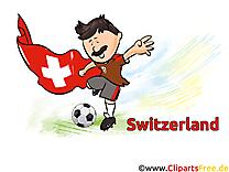 Drapeau Gratuit Soccer Clip arts Suisse pour télécharger