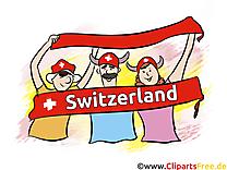 Football Clipart Joueur sur le Terrain Suisse