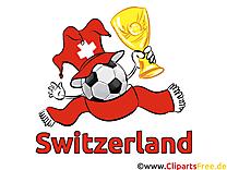 Soccer Suisse gratuit Cliparts Joueurs avec le Ballon