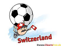 Soccer Suisse Images et Illustrations