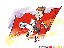 Suisse Joueurs Cliparts Soccer pour télécharger