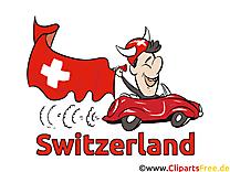 Voiture Illustration Soccer Suisse gratuitement télécharger