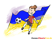 Drapeau Soccer gratuit Cliparts Joueurs Ukraine