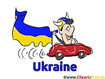 Voiture Football Clipart Ukraine Joueur sur le Terrain